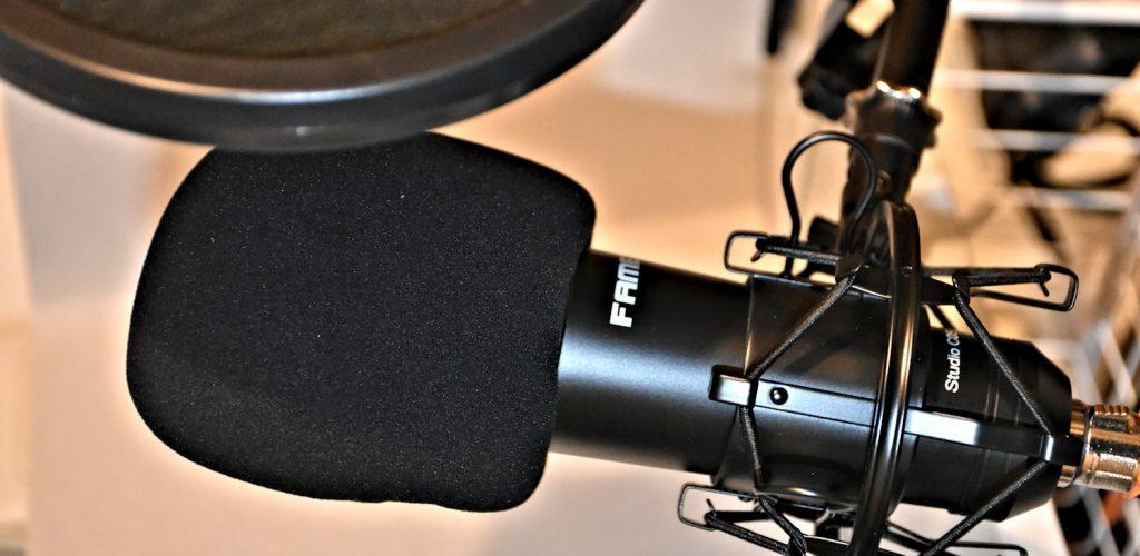 Mikrofon für professionelle Tonaufnahmen.